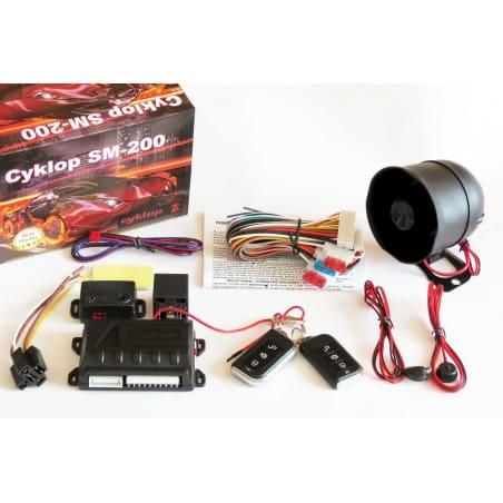 Alarm samochodowy SM-200 komplet syrenka czujnik