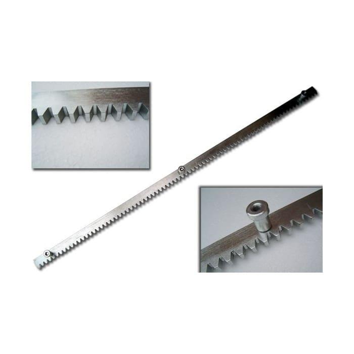 Listwa metalowa 1mb 8mm zębata z tulejami