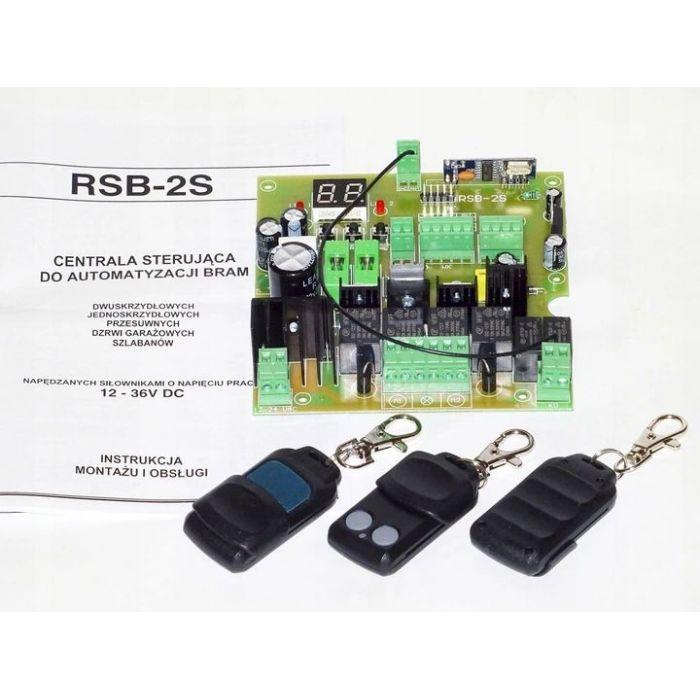 Sterownik RSB-2S bramy dwuskrzydłowej uniwersalny 12V- 24V 3 piloty