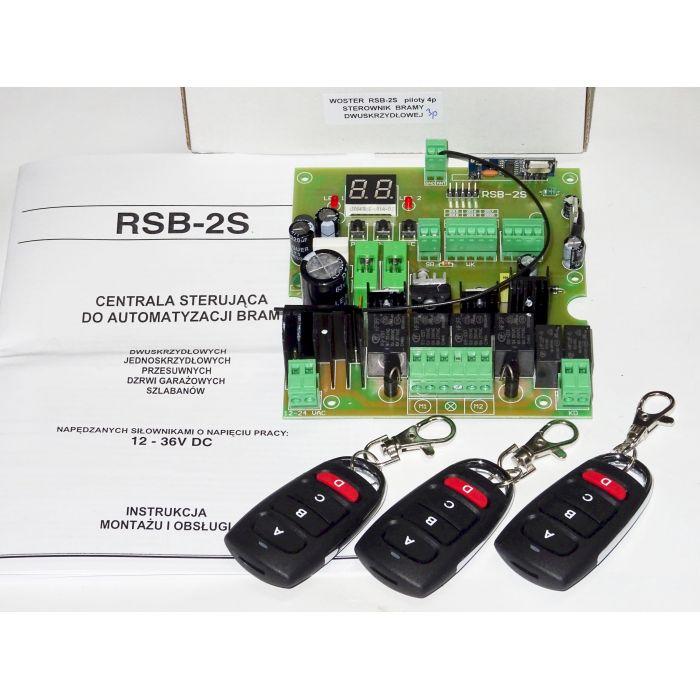 RSB-2S sterownik bramy dwuskrzydłowej uniwersalny
